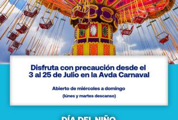 Atracciones de feria del 3 al 25 de Julio en Isla Cristina