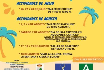 La Delegación de Juventud del Ayuntamiento de Isla Cristina inicia su extensa programación estival