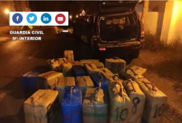 Cuatro detenidos tras intervenir 25 fardos de hachís en Isla Cristina