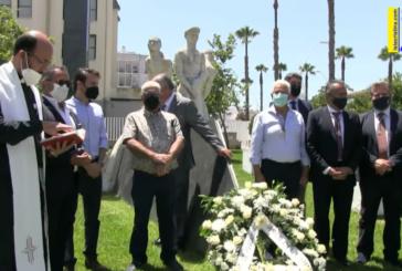 Ofrenda floral Monumento al Marinero (Isla Cristina, 16 Julio 2021)