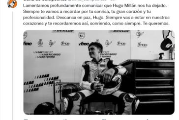 Fallece el piloto onubense de motos Hugo Millán en un accidente en MotorLand Aragón