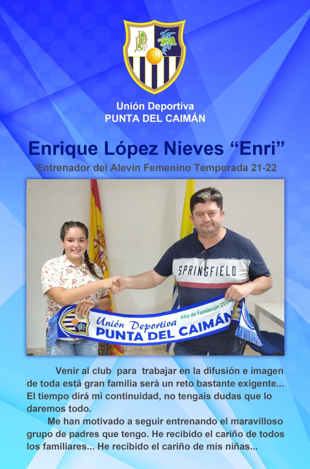 Enrique López «Enri» a cargo de la Comunicación e Imagen del Punta del Caimán