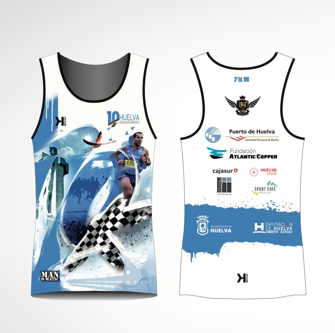 A la venta la camiseta conmemorativa de la 3ª edición de la 10K Huelva 'Puerta del Descubrimiento'