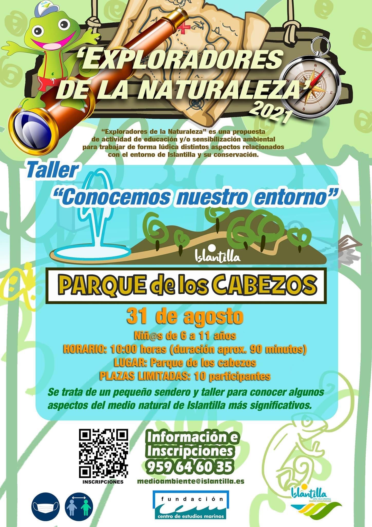Exploradores de la Naturaleza en el Parque El Camaleón de Islantilla