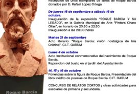 Programación actos conmemorativos del bicentenario de Roque Barcia
