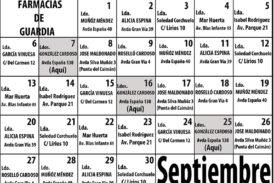 Farmacias de Guardia en Isla Cristina para el mes de Septiembre 2021