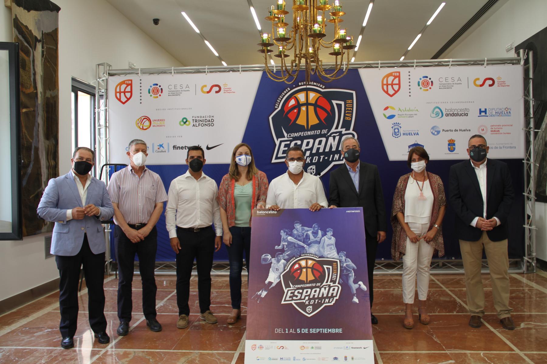 Huelva acoge del 1 al 5 de septiembre el Campeonato de España de Baloncesto de selecciones autonómicas infantil y cadete