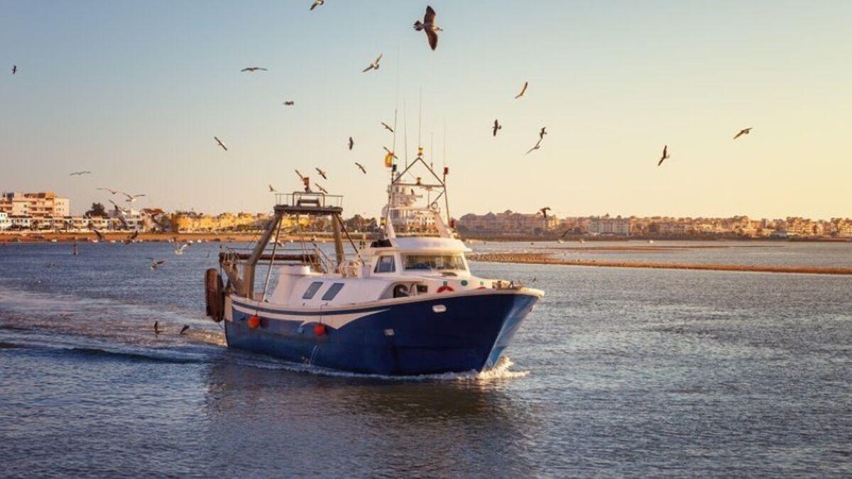Barco pesquero en Isla Cristina
