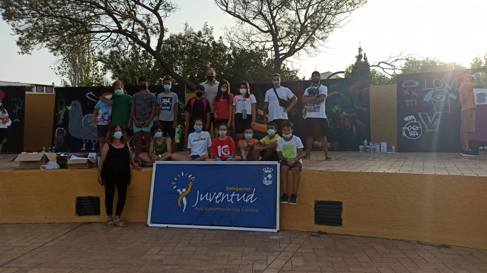 Finaliza el Taller de Graffitis organizado por la Delegación de Juventud del Ayuntamiento de Isla Cristina