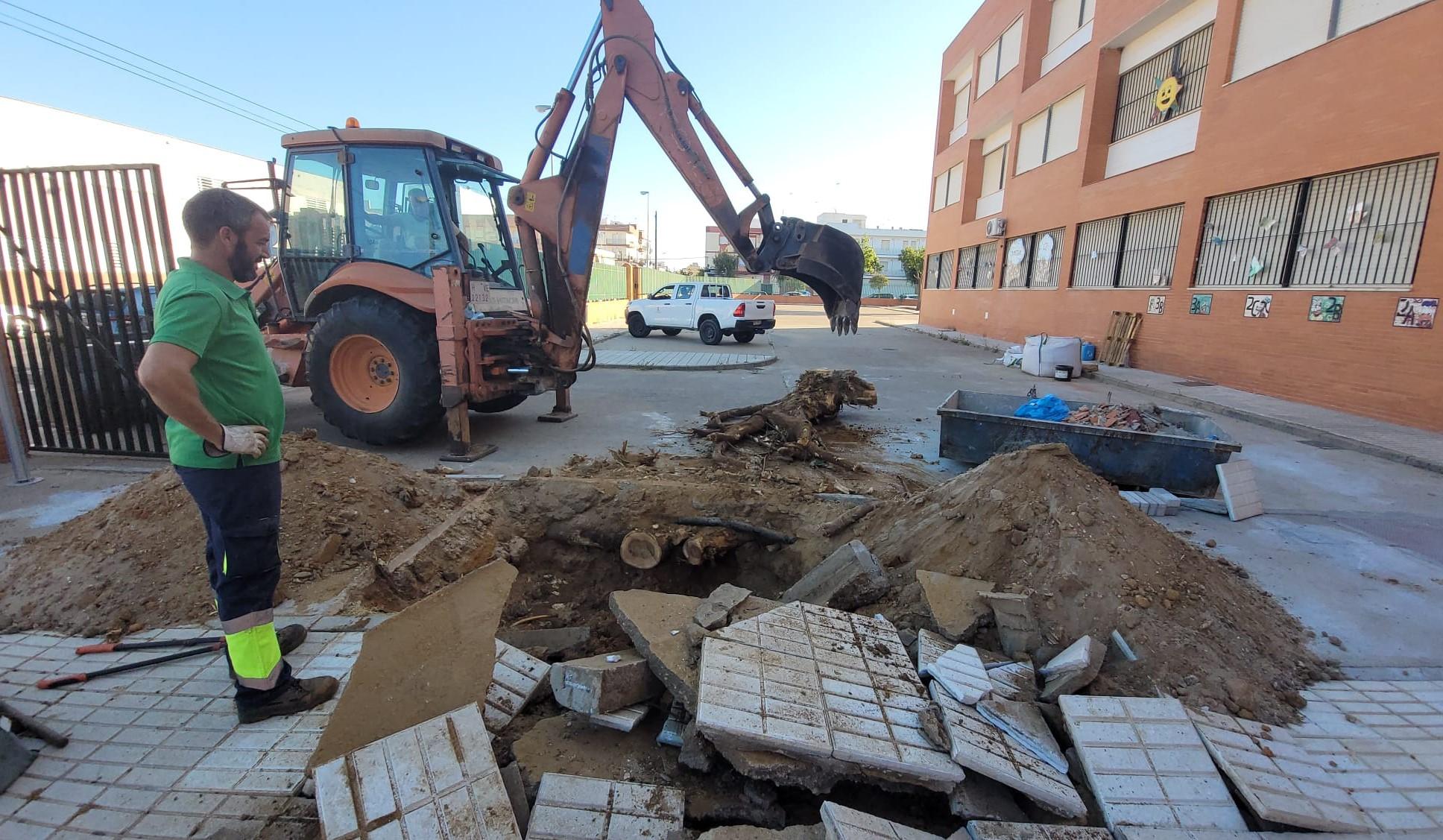 El Ayuntamiento de Isla Cristina acomete los trabajos de adecuación y mantenimiento en los centros escolares