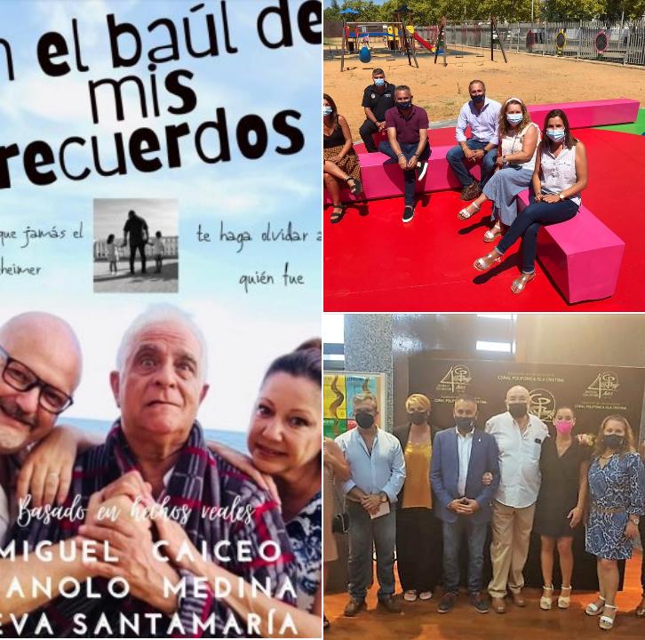 Los actores, Manuel Medina y Miguel Caiceo, en las Mañanas de Radio Isla Cristina