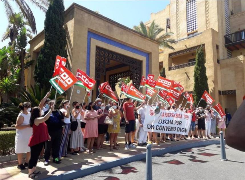 Marcha en Huelva hoy como protesta por «el bloqueo» del convenio de la hostelería