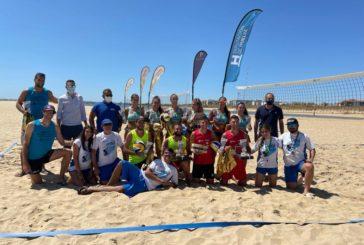 Las playas isleñas acogen la final del Circuito Provincial de Voley Playa
