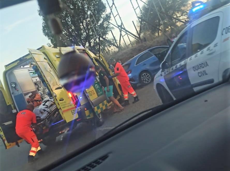 Un herido en un accidente de circulación en Pozo del Camino