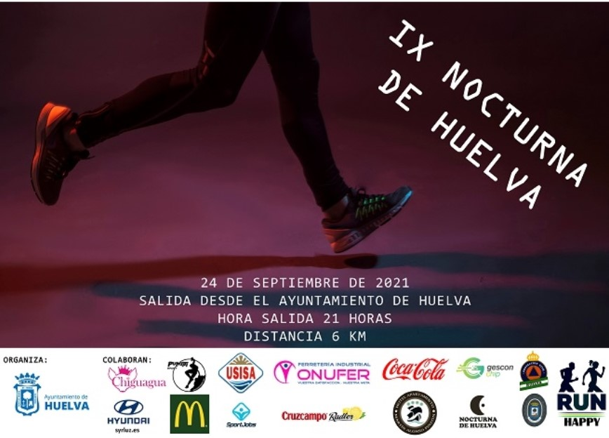 Carrera Nocturna de Huelva, inscripción abierta a 500 dorsales