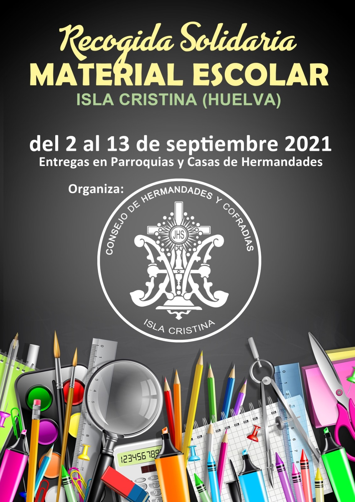 Recogida Solidaria en Isla Cristina de Material Escolar