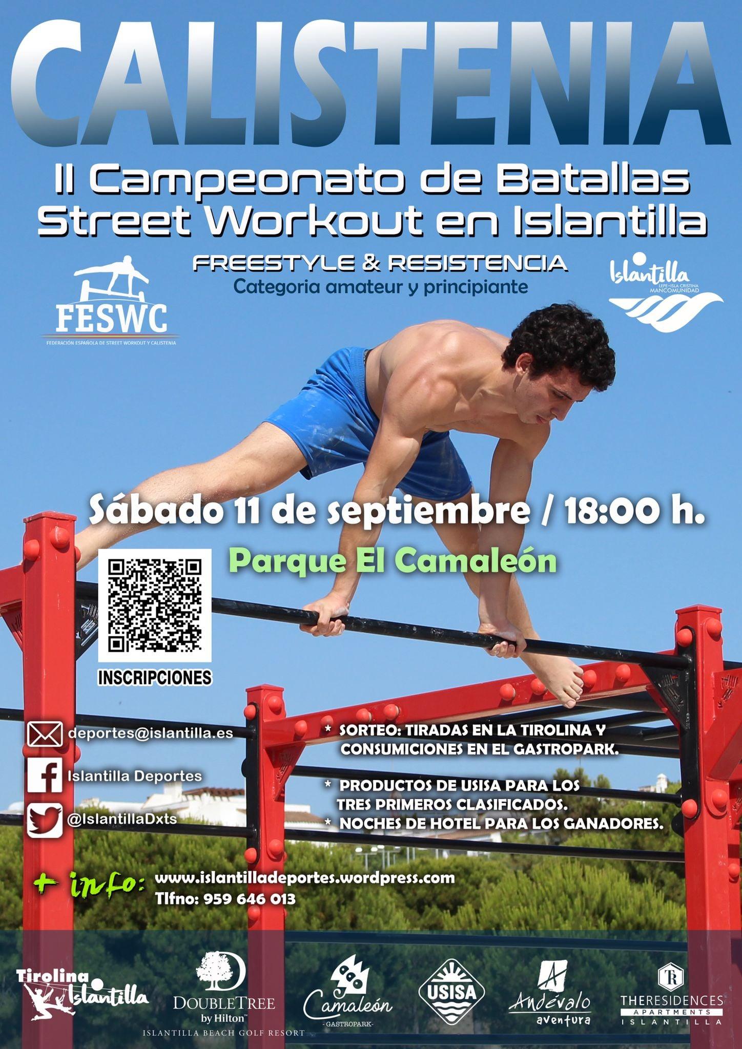 II Campeonato de Calistenia en Islantilla.