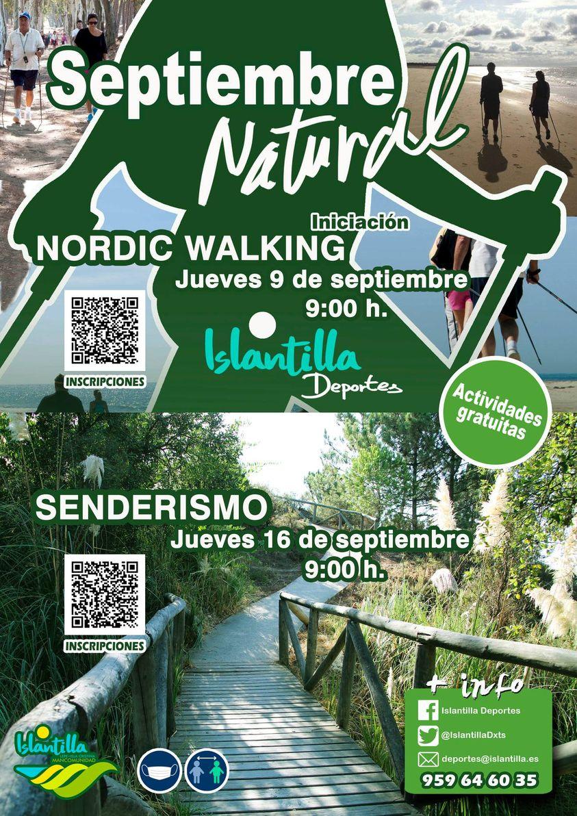 'Iniciación al Nordic Walking' y 'Senderismo por pinar y playa' en Islantilla