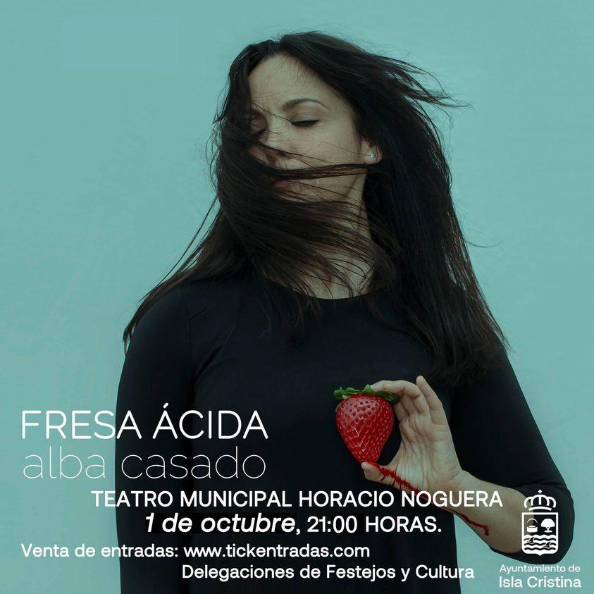 Presentación del nuevo disco de la cantautora de Isla Cristina Alba Casado