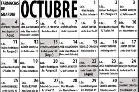 Farmacias de Guardia en Isla Cristina para el mes de Octubre 2021