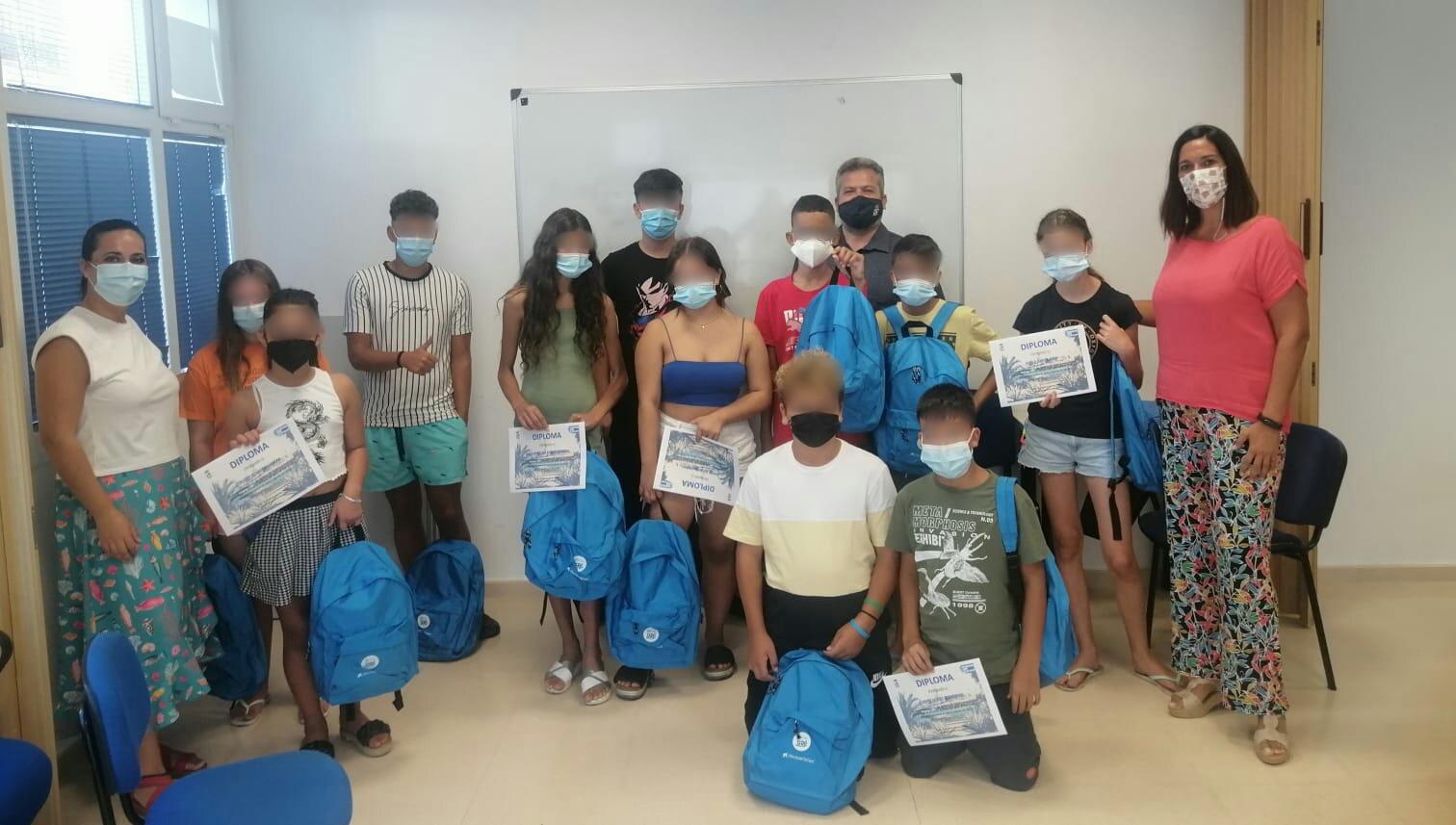 Clausurados en Isla Cristina los Talleres de verano para menores vulnerables