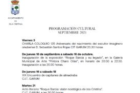 Programación Cultural Isla Cristina Septiembre 2021