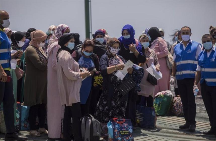 Más de 12.000 temporeras marroquíes trabajarán en la campaña agrícola en Huelva