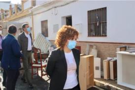 Limón recorre las zonas más afectadas por las inundaciones en Huelva para conocer los daños y agilizar las ayudas
