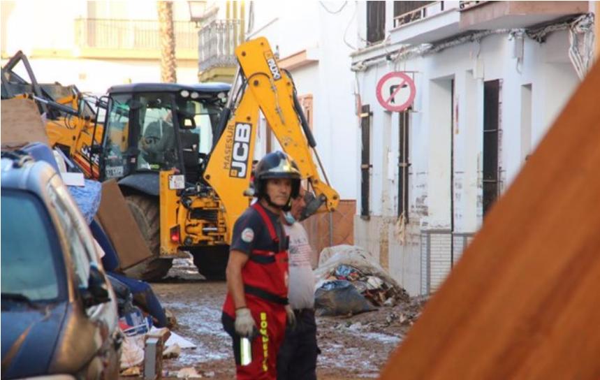 """La Diputación de Huelva destaca """"la colaboración desde el minuto uno"""" con los pueblos afectados por el temporal"""