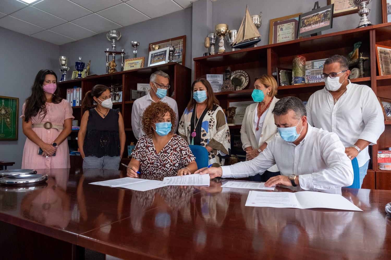 Diputación firma un convenio con Usisa para abrir una línea de becas HEBE Capacita para jóvenes