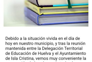 El temporal provoca graves inundaciones en centros educativos de Lepe, Cartaya, Ayamonte e Isla Cristina (Huelva)