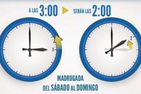 El cambio de hora llega este domingo