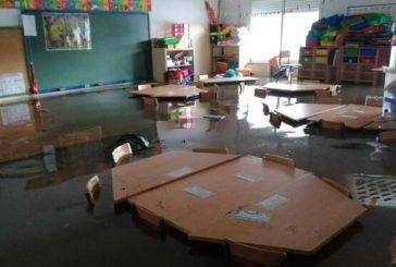 La Junta visita de nuevo los centros escolares afectados por el temporal en Huelva para agilizar las reparaciones