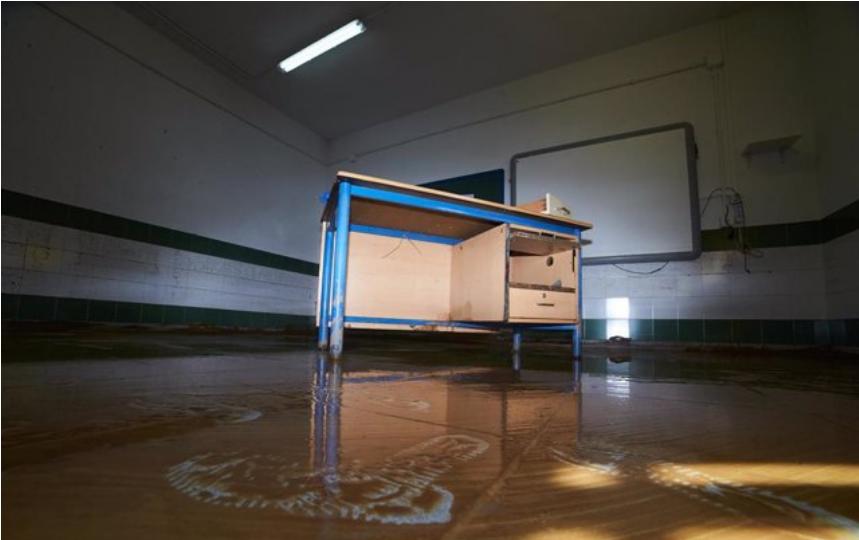 Educación valora en 882.000 euros los daños por el temporal en centros públicos de Huelva