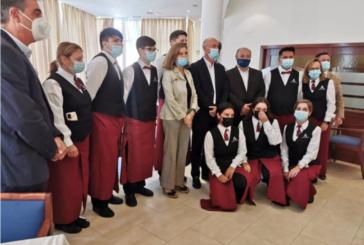 Rocío Blanco visita la Escuela de Hostelería de Islantilla que reanuda su actividad tras los daños de la DANA